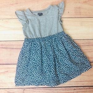 Gap Girls Gray & Blue Floral Dress 2T